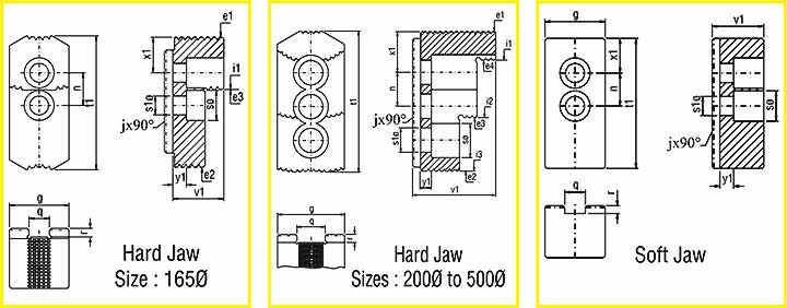 cnc lathe chuck-jaw-drawing