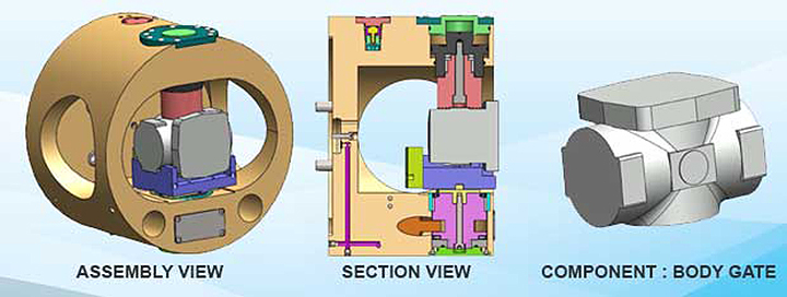 chuck for machining valve bodies